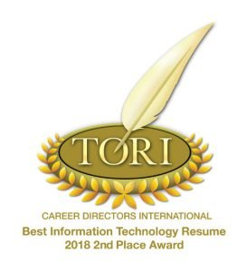 TORI Award 2018 2nd Best IT Resume